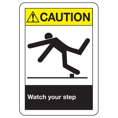 ANSI Z535 Safety Signs - Watch Your Step