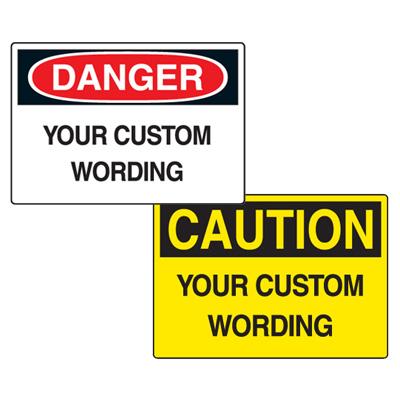 Custom Double Sided Hanging OSHA Safety Signs